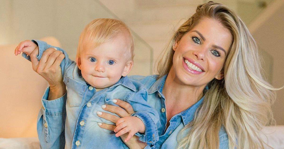 enrico karina 1.png?resize=574,582 - Filho de Karina Bacchi, de 9 meses, vira sensação na web