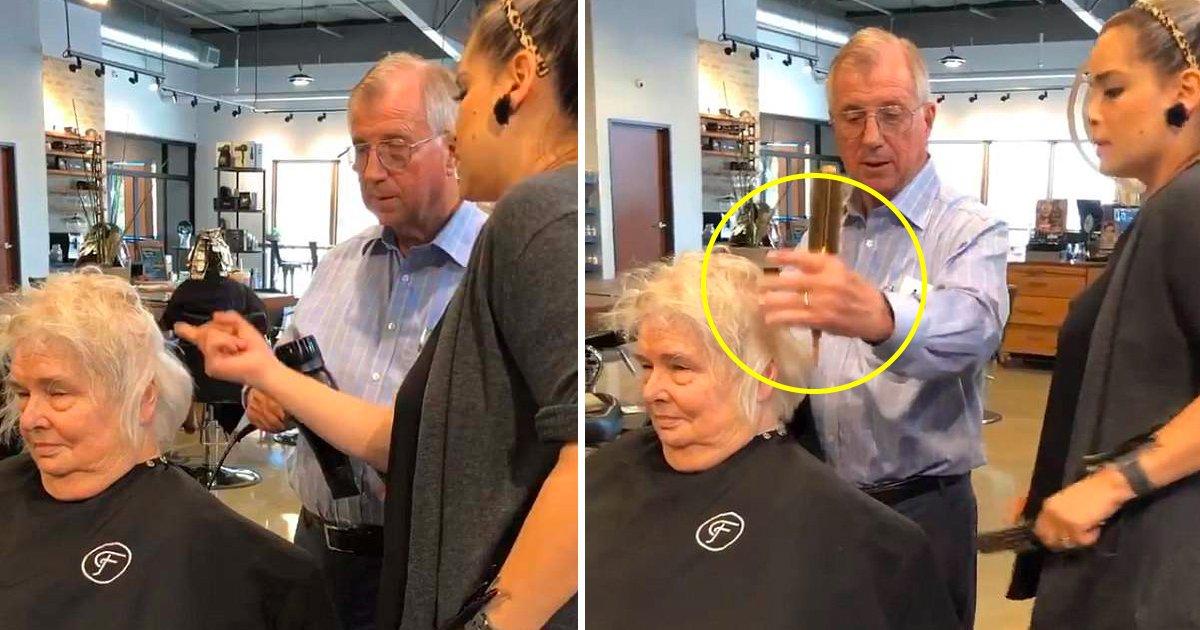 husband.jpg?resize=412,232 - Un mari apprend à coiffer les cheveux de sa femme après qu'elle ait eu un accident vasculaire cérébral (vidéo)