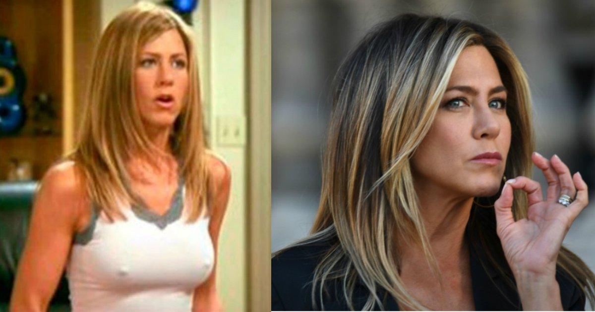 jennifer aniston.jpg?resize=300,169 - Jennifer Aniston explica por que seus mamilos aparecem tanto na série ''Friends''