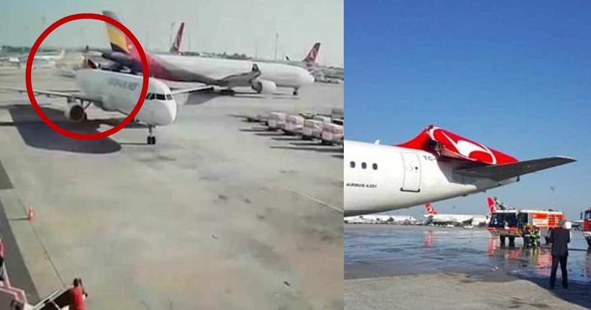 jet accident.jpg?resize=412,232 - Jet Has Tail Sliced Off When Another Plane Crashes Into It On Runway