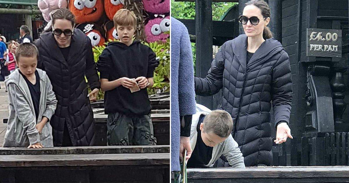 jolie and kids.jpg?resize=648,365 - Angelina Jolie passa dia ao lado dos filhos em Legoland Windsor - enquanto isso, ela batalha com Brad Pitt pela custódia das crianças