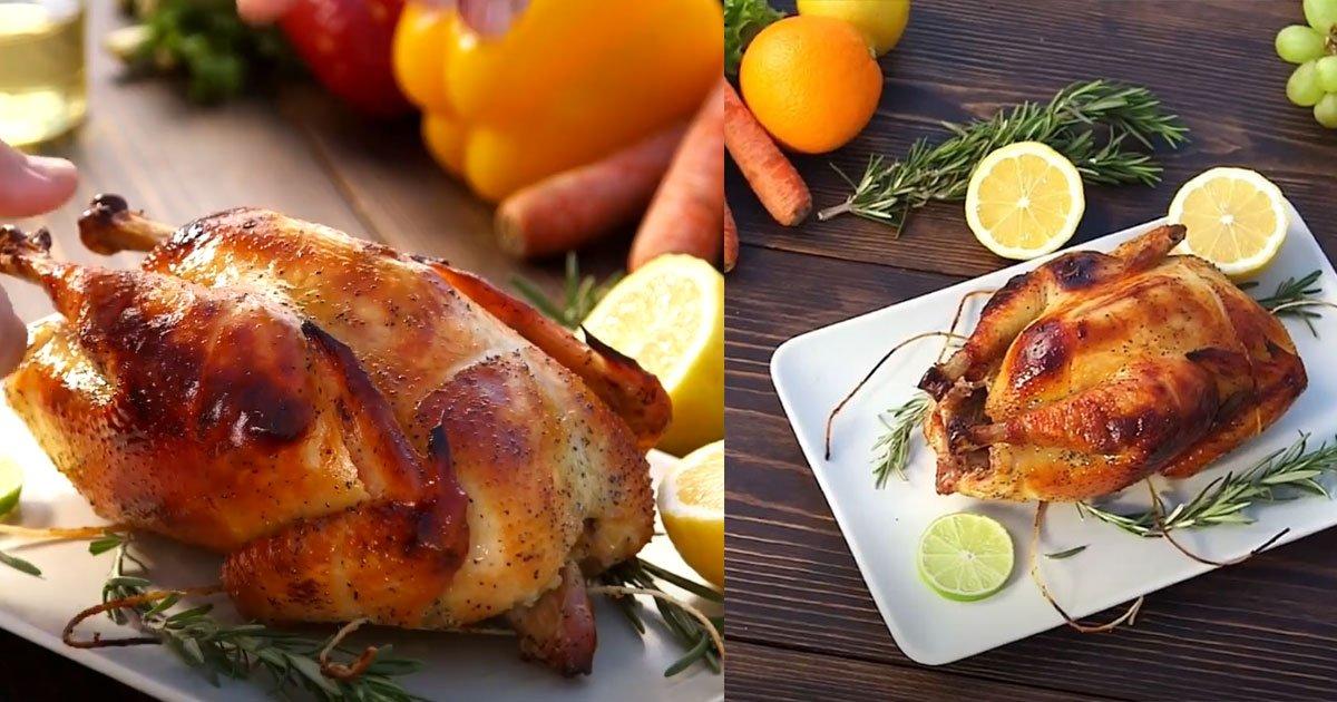 juicy tender chicken.jpg?resize=412,232 - Voici comment vous pouvez faire rôtir un poulet juteux et tendre