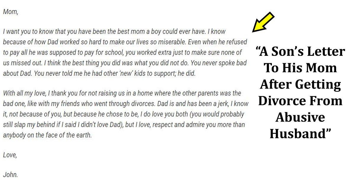 letter.jpg?resize=1200,630 - La lettre d'un fils à sa mère après son divorce avec un mari violent devient virale sur Internet