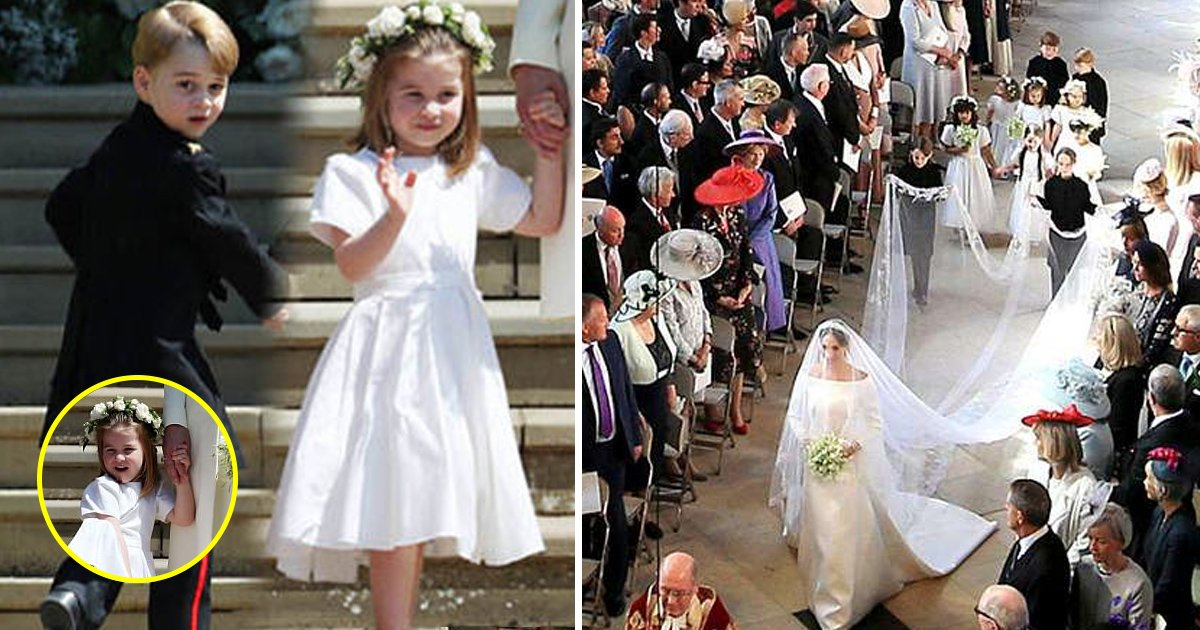 little kids.jpg?resize=732,290 - How Harry and Meghan Dressed To Match With Their Page Boys and Bridesmaids