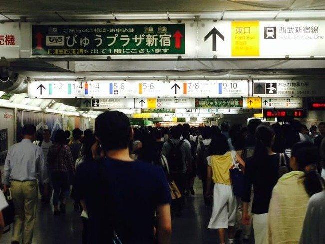 Image result for 新宿駅にいる女性にだけタックルかましていく男
