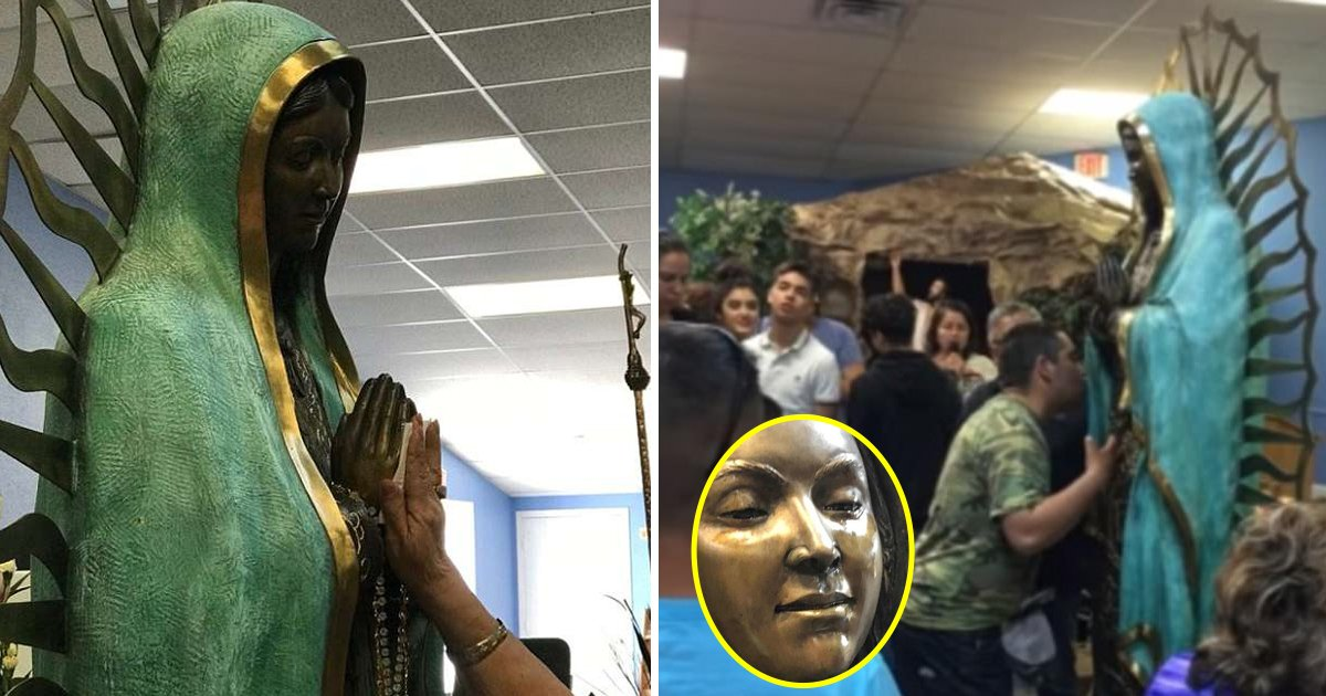 mary.jpg?resize=412,232 - Witnesses Celebrated Miracle As The Statue Of Virgin Mary Started Crying
