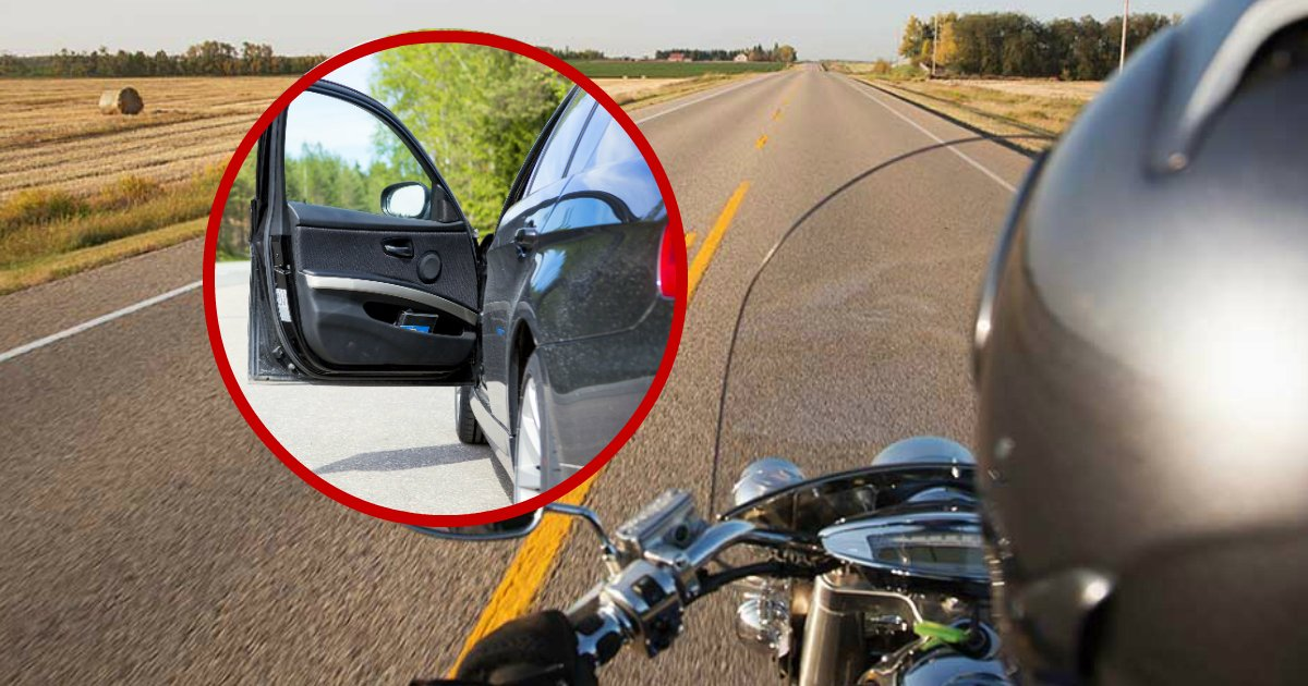 motorcycle accident.jpg?resize=1200,630 - 17-Year-Old Passenger Arrested After Opening Car Door In Which Motorcyclist Crashed And Died