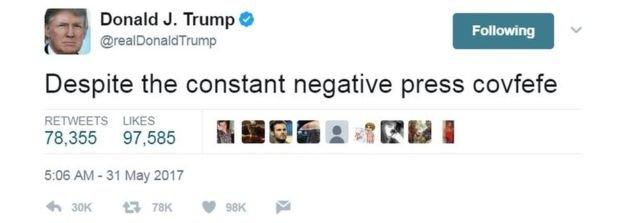 トランプ大統領 covfefe에 대한 이미지 검색결과