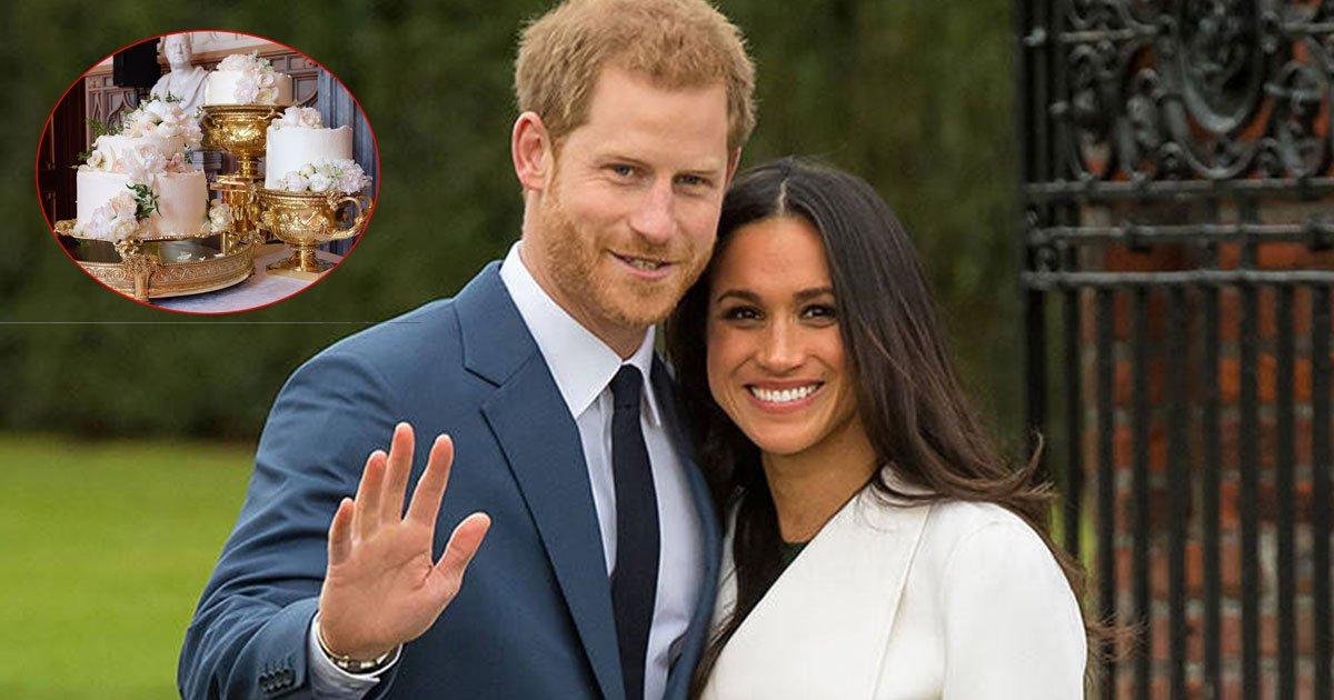 prince harry and meghan markles royal wedding cake finally revealed.jpg?resize=412,232 - Prince Harry And Meghan Markle's Royal Wedding Cake Finally Revealed