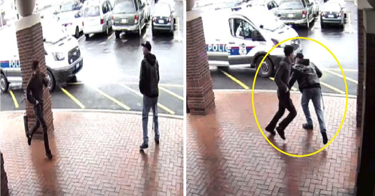 qwer 1.png?resize=300,169 - 경찰의 맹추격을 피하는 범인을 보고 슬쩍 '다리 걸어서' 제압한 시민 (영상)
