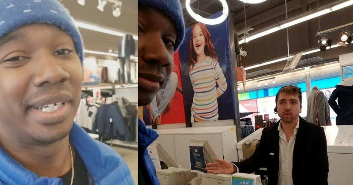 racist employees.jpg?resize=1200,630 - Un client noir est accusé d'avoir volé une veste dans un magasin alors il décide de ne pas en rester là.