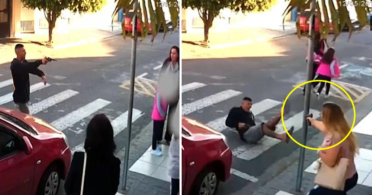 robbery.jpg?resize=300,169 - An Off-duty Police Officer Saves The Lives Of Mothers And Daughters By Neutralizing The Actions Of A Gunman