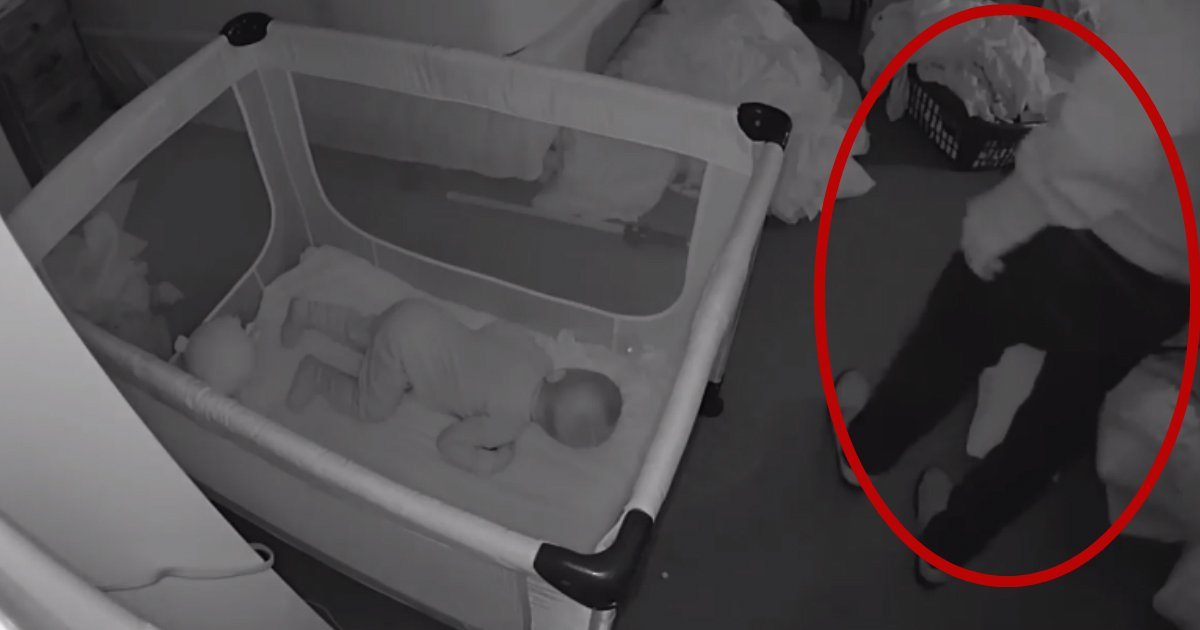 sick sneaking in house.jpg?resize=636,358 - Baby Cam Captures Man Sneaking Into Sleeping Family's Home And Exposing Himself