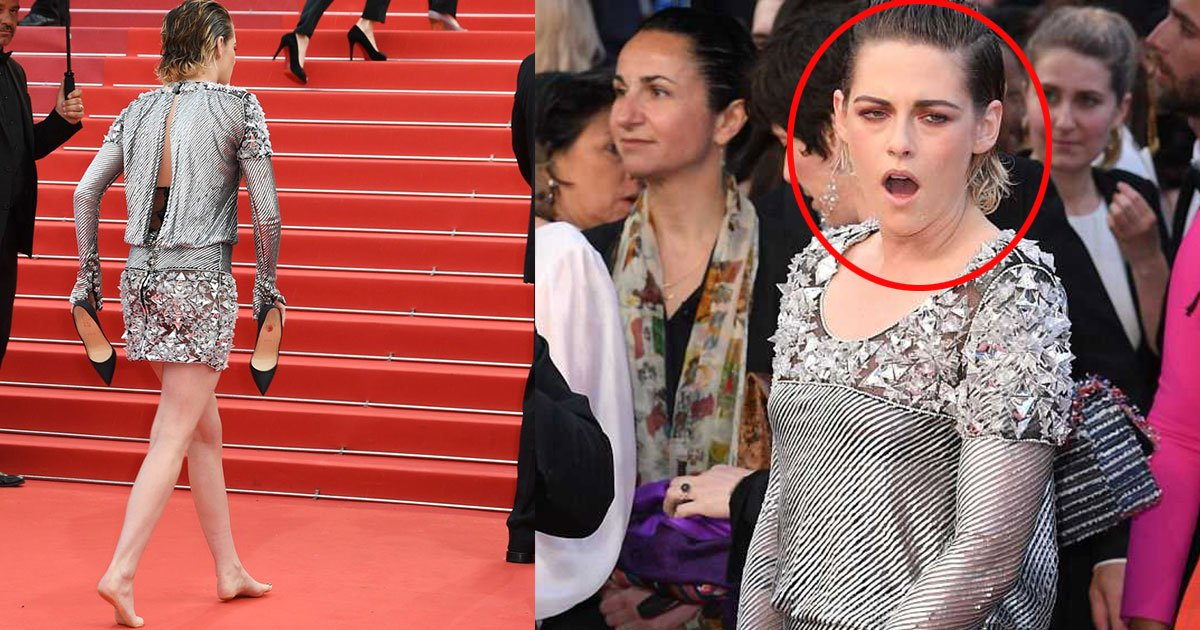 st.jpg?resize=1200,630 - Kristen Stewart Goes Bare Feet At Red Carpet In Rebellion Against Cannes' 'No-flats' Policy