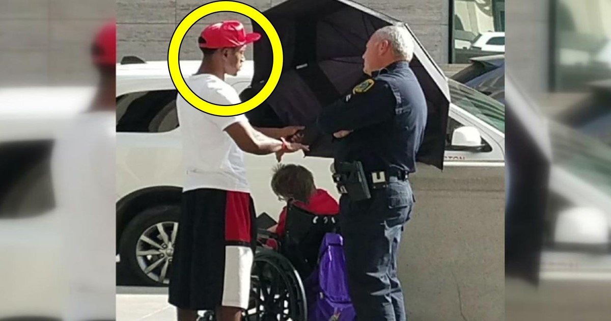 t.jpg?resize=1200,630 - Texas Teen Goes Viral After Shading An Elderly Woman With Umbrella In Scorching Sunlight