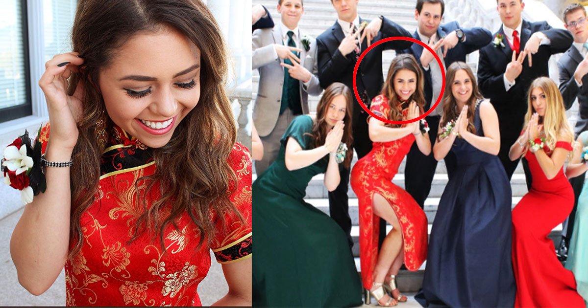 teen prom dress.jpg?resize=300,169 - Les gens ont critiqué l'adolescente pour porter une robe chinoise à son bal de promo