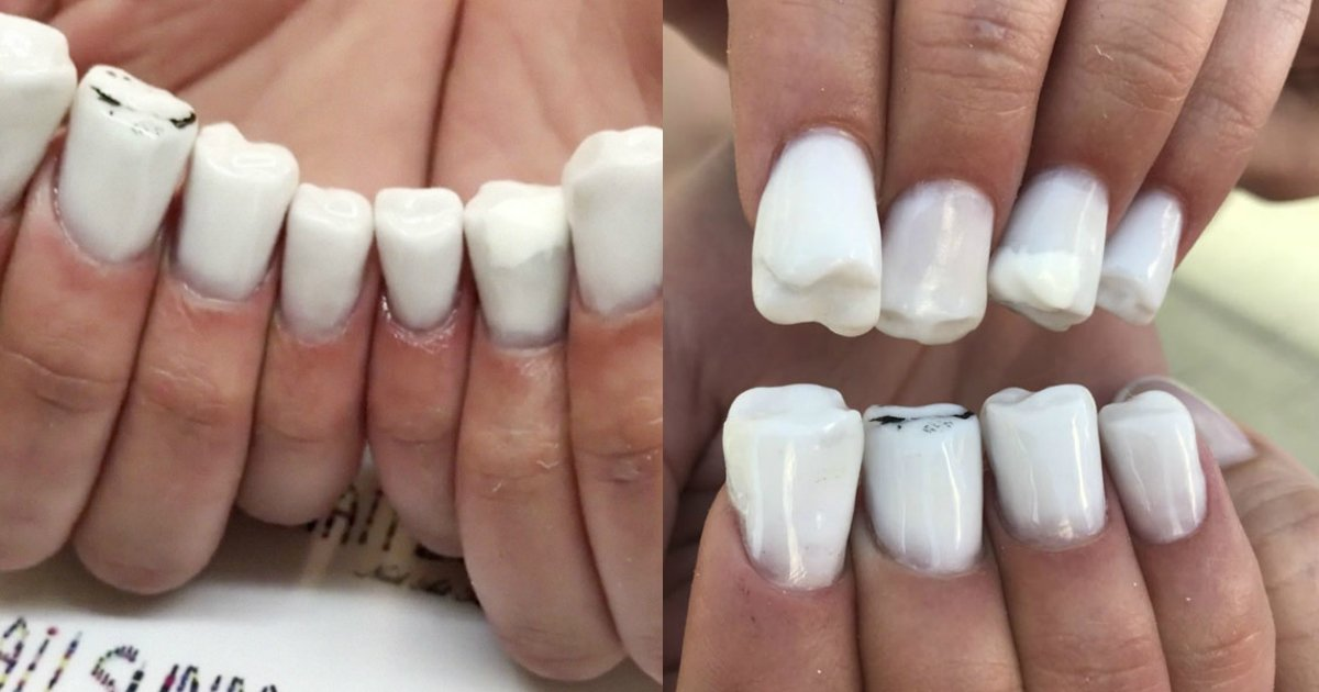 teeth nails.jpg?resize=412,232 - Your Mouth Isn't The Only Place With Teeth, Meet Teeth Nails!