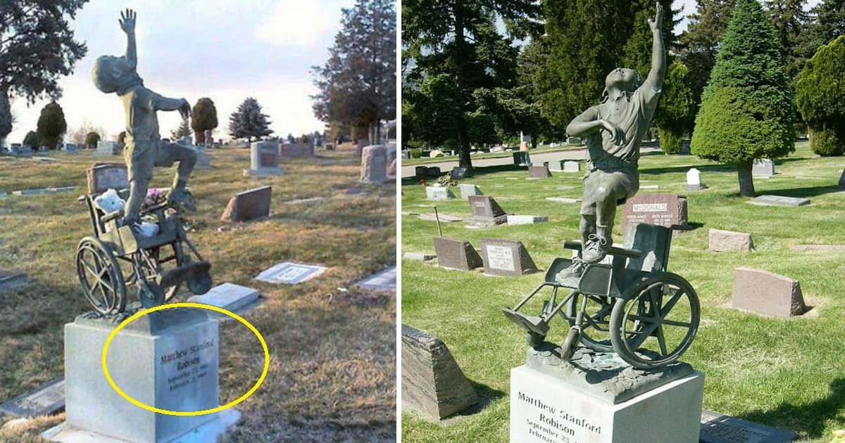 tomb.jpg?resize=412,232 - Le père d'un garçon de 10 ans décédé dans son sommeil transforme sa tombe en chef-d'œuvre