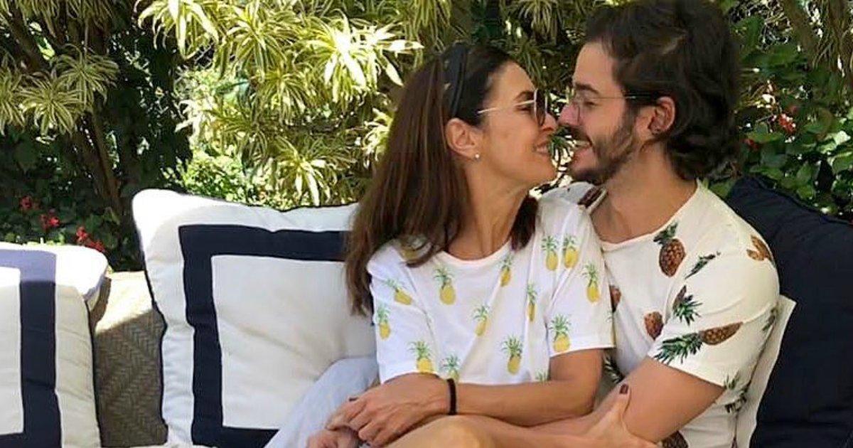 """tulio fatima.png?resize=648,365 - Fátima Bernardes e Túlio Gadêlha embarcam para Miami: """"1ª viagem juntos"""""""