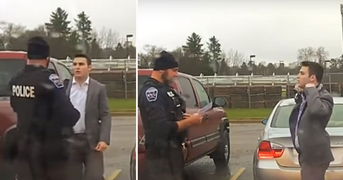 untitled 1 8.jpg?resize=300,169 - Officer Spots Speeding Student, Teaches Him to Tie a Tie