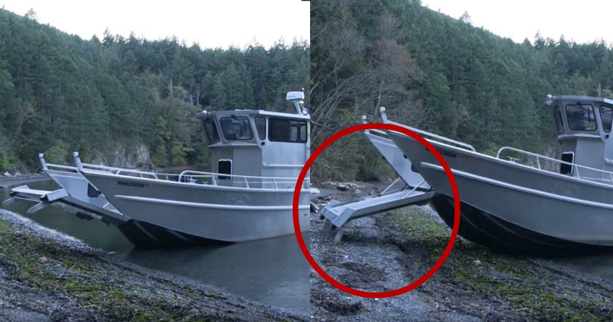 walking boat.jpg?resize=412,232 - This Boat Is A Real-Life Transformer: Watch How It Can Walk On The Shore