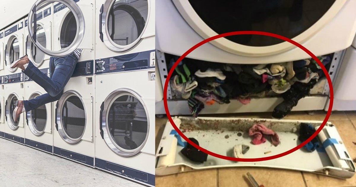 washing machine eatings.jpg?resize=412,232 - Il s'avère que les machines à laver mangent vraiment les chaussettes et ces monstres sont capables de plus.