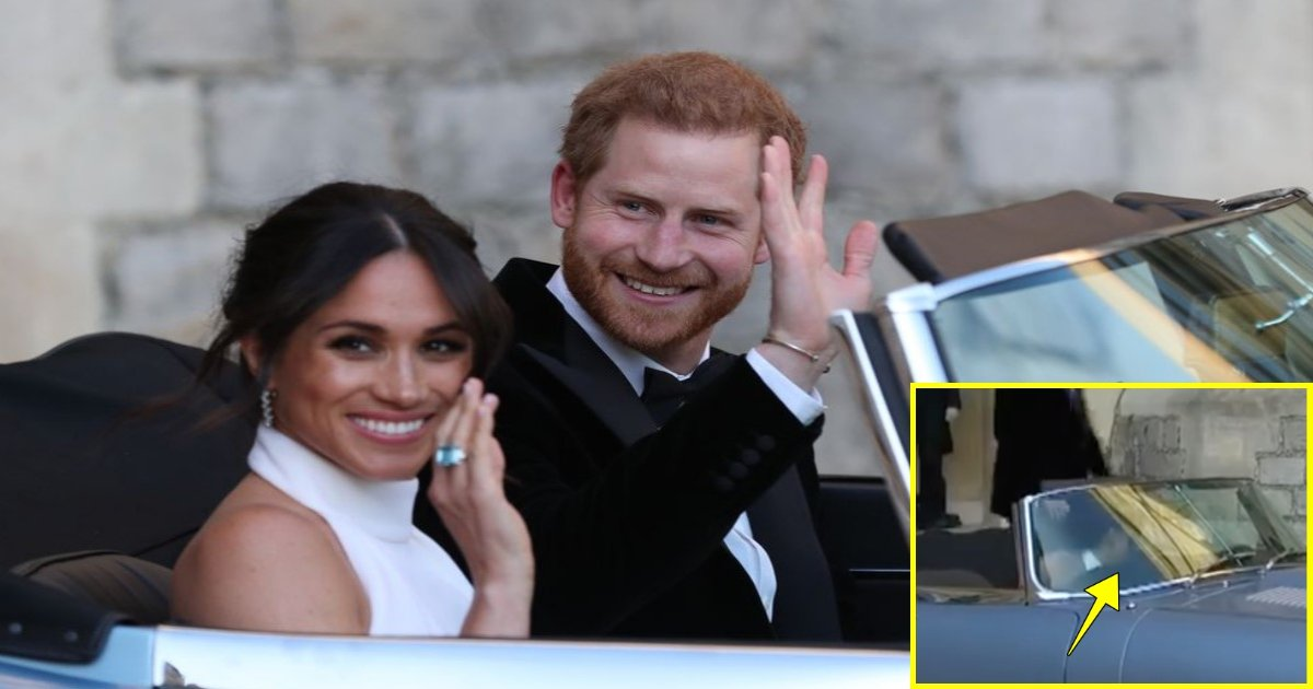 wedding 5.jpg?resize=648,365 - Momento feminista do casamento real: fãs elogiam Meghan Markle por abrir a porta do carro de Harry ao saírem para a recepção