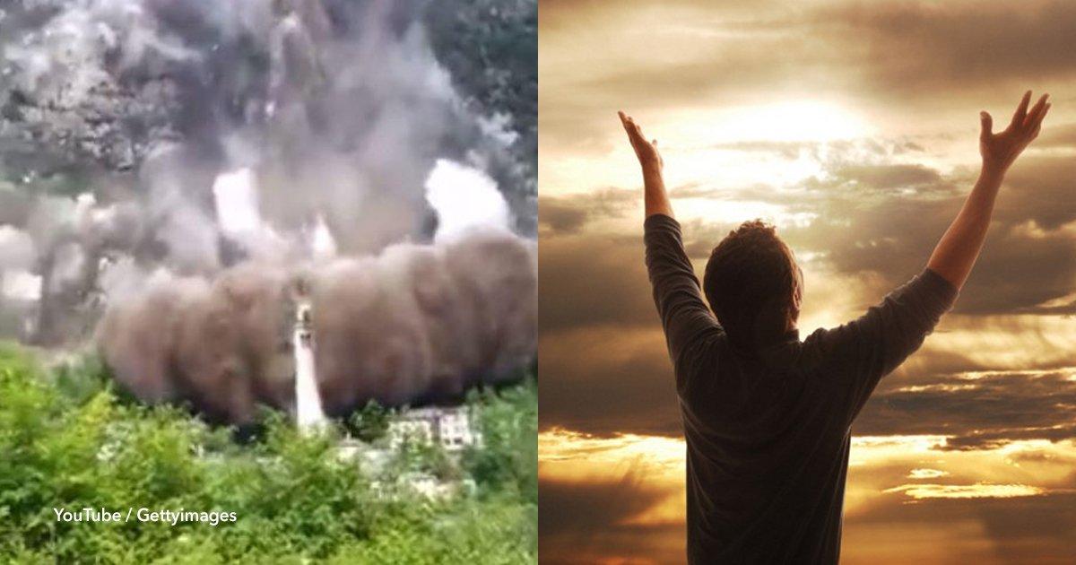1 cov 2.jpg?resize=648,365 - ¿Ocurrió un milagro? Una avalancha se detiene justo antes de llegar a destruir una Iglesia