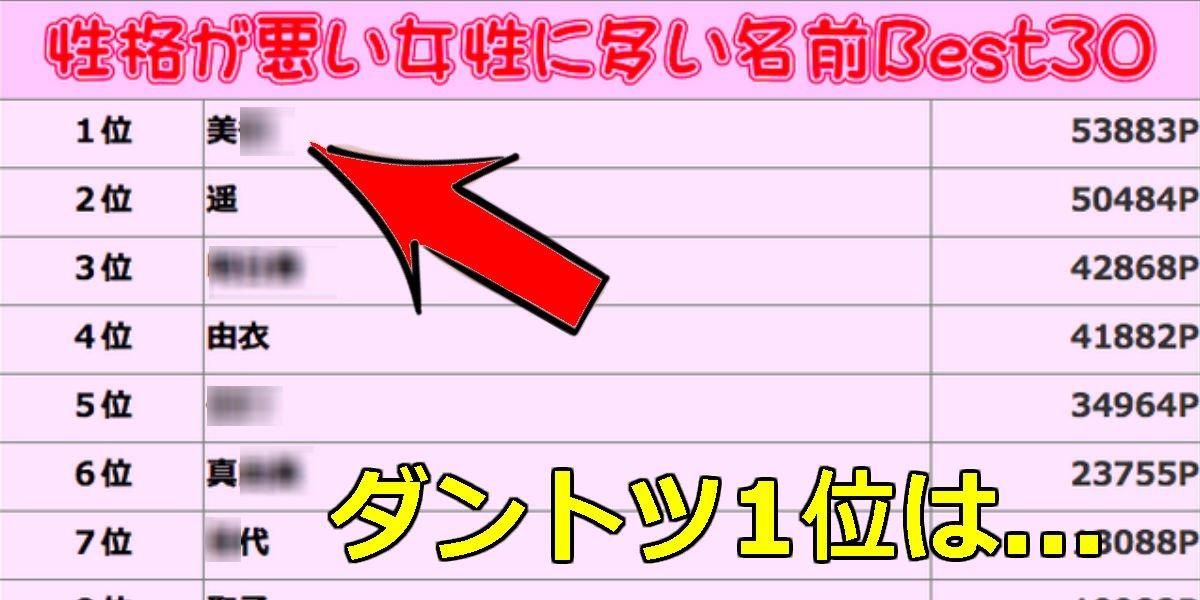 22 7.jpg?resize=300,169 - 【男女とも必見】1位は「美〇」!性格悪い女性名前ランキング大公開