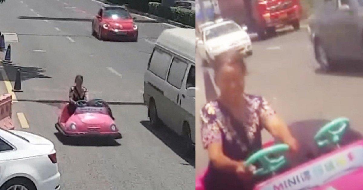 3333 1.png?resize=648,365 - 놀이공원 범퍼카를 타고 도로 달리다 경찰 단속에 걸린 중년 여성 (영상)