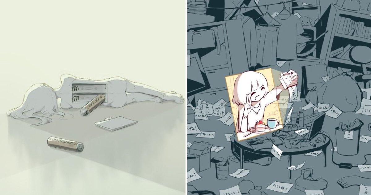 7 5.jpg?resize=412,232 - 생각하게 만드는 일본 작가의 '오묘'한 일러스트 모음