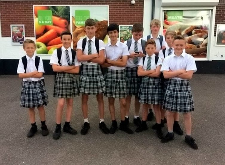 Image result for School Bans Boys From Wearing Shorts In Summer, Tells Them To Wear 'Skirts' Instead