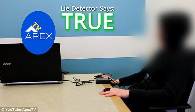 The lie detector test allegedly showed the man was telling the truth - but the camera did not reveal the results to the camera