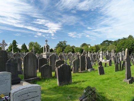 묘지, 무덤, 삭제, 장례, 아, 아일랜드