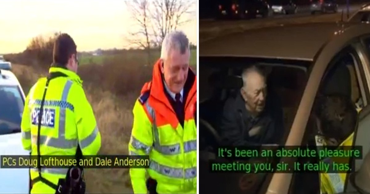 aaaaaa 1.jpg?resize=412,232 - Des policiers voient un homme de 91 ans qui change un pneu à plat. Ils abandonnent tout après avoir appris qui il était