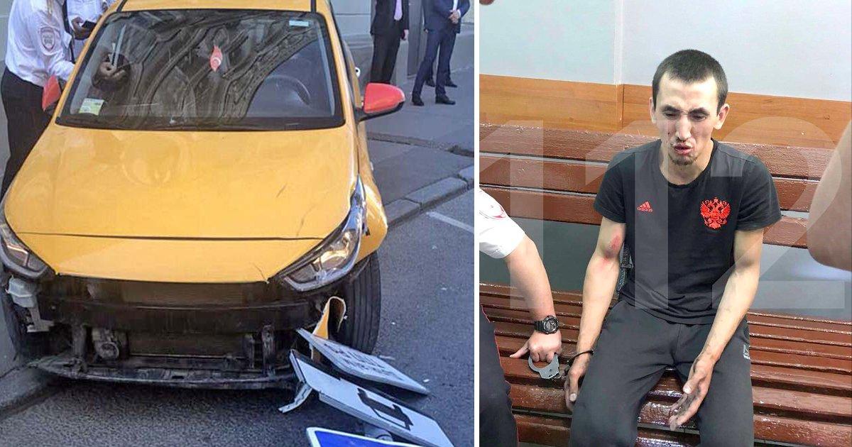 afda.jpg?resize=300,169 - Conductor de taxi en Moscú arrolla a fanáticos de la Copa del Mundo en la acera, dice que se desmayó después de un turno de 20 horas