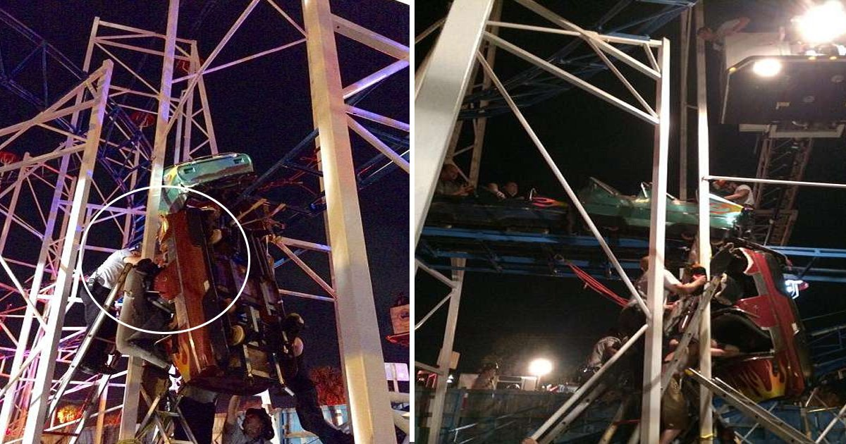 asdfasdf.jpg?resize=636,358 - Rollercoaster Derails In Dayton Beach -Throws Two Passengers 34 Feet To The Ground