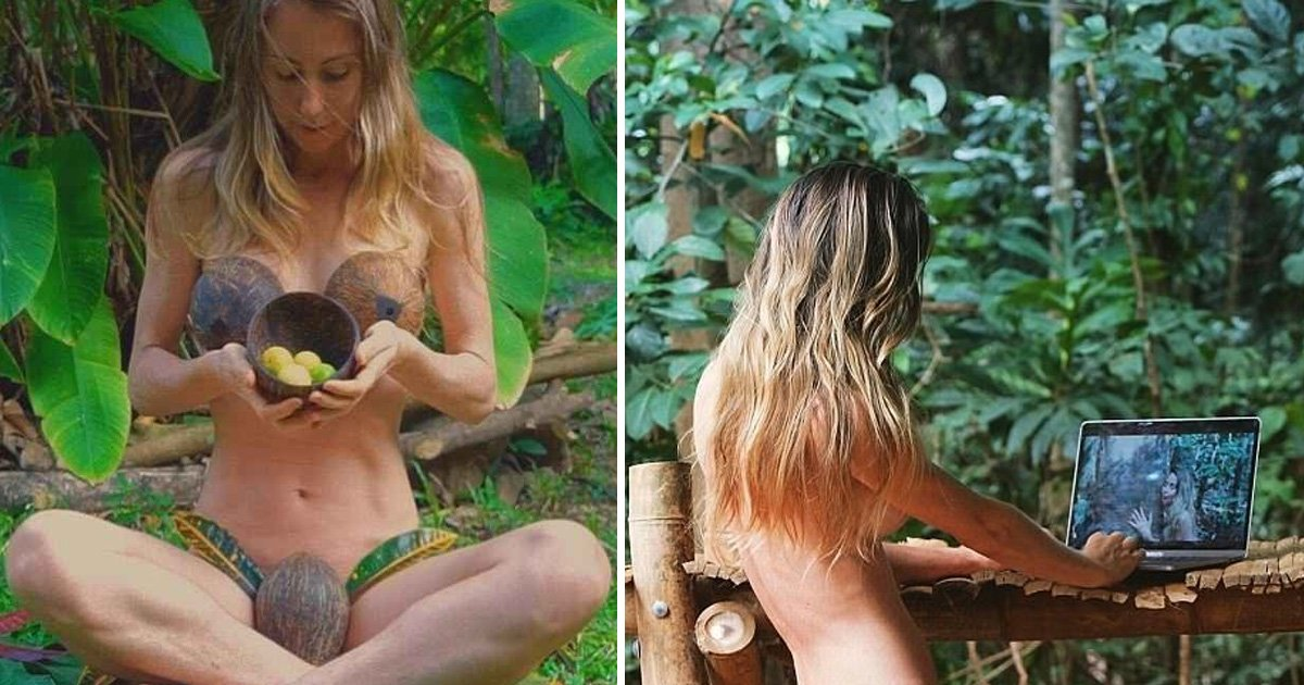 asdfasfd.jpg?resize=412,232 - No Makeup, Body Hair, and a Coconut Bra: Controversial Vegan Blogger Flees City to Lead Off-Grid Life in Jungle
