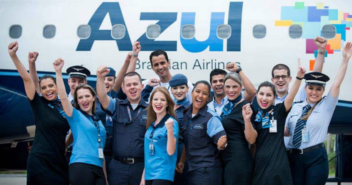 azul1.png?resize=1200,630 - Azul abre mais de 200 vagas para comissários de bordo