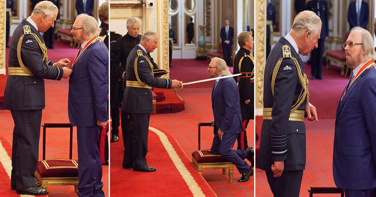 barry award prince charles palace 20.jpg?resize=636,358 - Bee Gees Icon Barry Gibb Has Been Awarded A Knighthood By Prince Charles, Pays Tribute To His Late Brothers