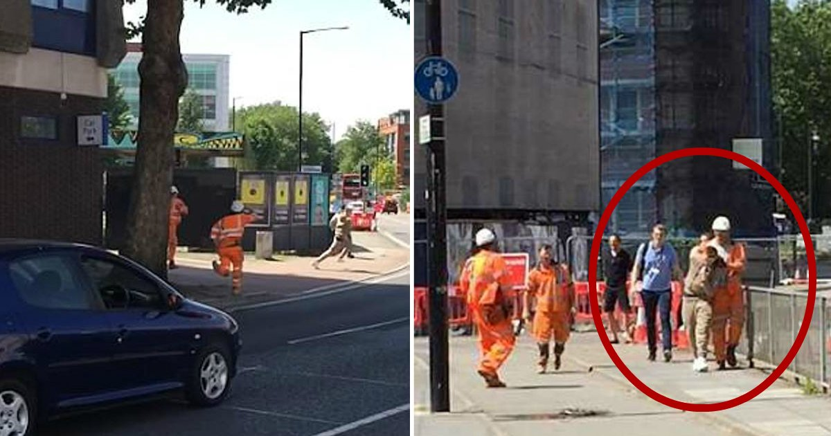 builders catch theif.jpg?resize=412,232 - Have-A-Go Hero Builders Chase Down Joyriding Teenagers Who Were Trying To Escape In Stolen Car