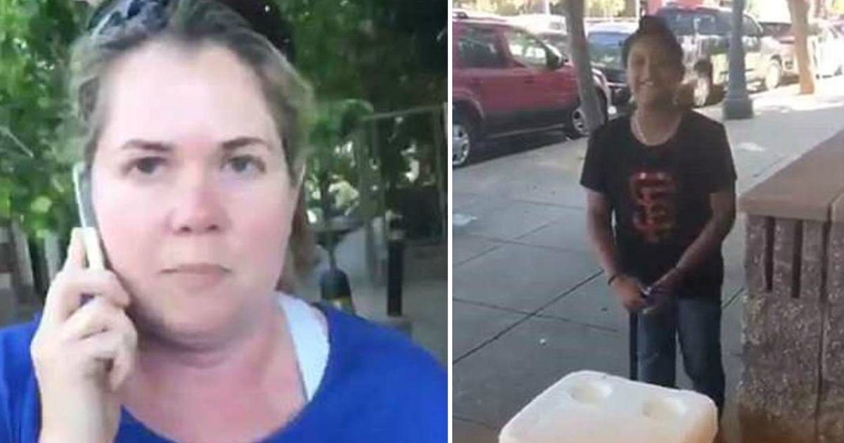 calling cop on girl.jpg?resize=412,232 - Woman Called Cops On An 8-Year-Old Girl Who Was Selling Cold Water Outside Her Home