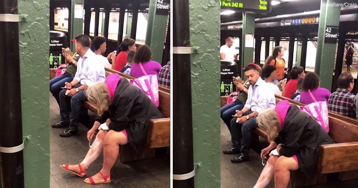 capa1ttf.png?resize=300,169 - Mulher é vista depilando as pernas em um tumultuado metrô de Nova York