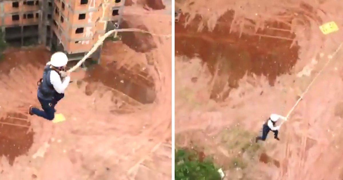 capa2 4.png?resize=300,169 - Pedreiro se atira de um prédio em obras como se estivesse pulando de bungee jump