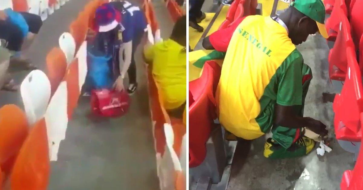 capa3 5.png?resize=1200,630 - Que exemplo! Japoneses e senegaleses limpam o estádio depois de jogo da Copa