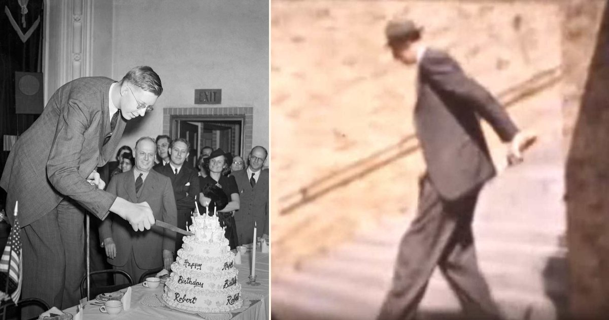 rare color footage emerges of robert wadlow the world s tallest man