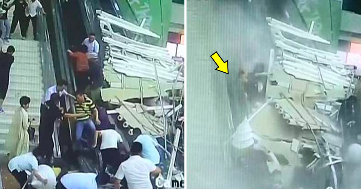 china.jpg?resize=300,169 - Turistas aterrorizados corren por sus vidas después de colapso del techo en el centro turístico de la montaña Huashan en China