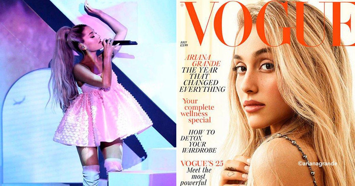 cover22ari.jpg?resize=648,365 - Ariana Grande comparte el momento más difícil de su vida para la revista Vogue, además posó sin maquillaje