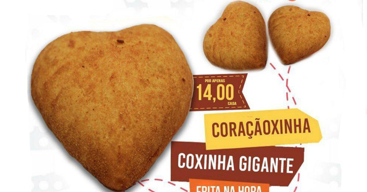 coxinha.png?resize=1200,630 - Lanchonete lança coxinha em forma de coração para Dia dos Namorados