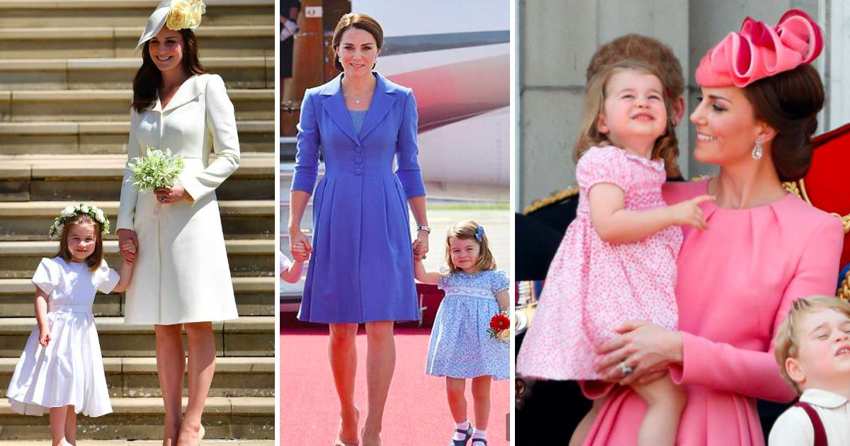 daughter 1.jpg?resize=412,232 - Duchess Of Cambridge Loves To Doll Up Her Daughter In The Same Colors As Herself